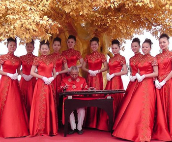 新乡市模特礼仪学校参加比干祭祖活动