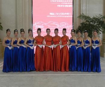 新乡市模特礼仪学校出席郑州逸泉国际饭店